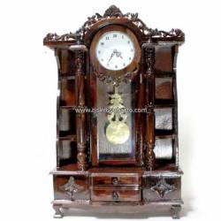 Jam Ukiran duduk Besar lb 60 x tg 38 cm