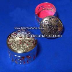 EBG 179 Box Tatah Grajen Perak 4,5 cm tg: 3,5 cm Bulat TNI