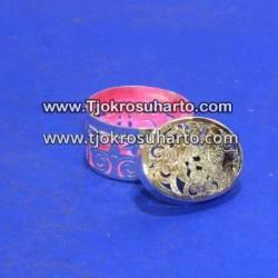 EBG 191 Box Tatah Grajen Perak 5 cm tg: 4 cm Oval TNI x
