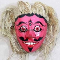 Topeng Bujang Ganong Merah Rambut Putih JMR