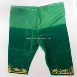 Celana Bludru Pendek Hijau SGM