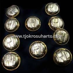 Kancing RI emas 1 Set isi 10