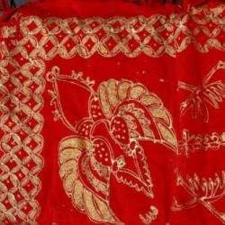 DKL 020 Kain Kampuh Manten Prodo Solo Merah Prodo Kristal warna SRL