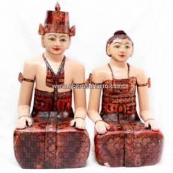 Loro Blonyo Basahan batik 80 cm LPM 033