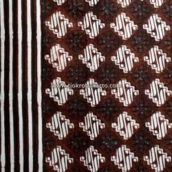 BCP 123 Batik Jogja Cap Motif Parang kotak seling nitik Tumpal slarak