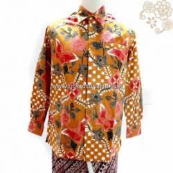 BPH 060 Kemeja Pendek batik Printing warna