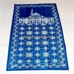 BLL 043 Sajadah Batik Cap Biru tosca kawung prabu