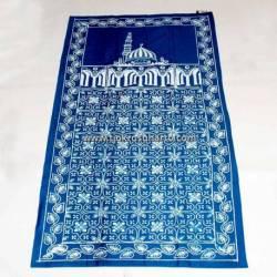 BLL 044 Sajadah Batik Cap Biru tosca cepoko kembang