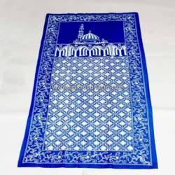 BLL 046 Sajadah Batik Cap Biru muda Kawung Benggol