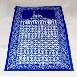 BLL 058 Sajadah Batik Cap Biru muda kawung prabu