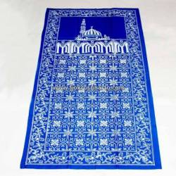 BLL 062 Sajadah Batik Cap Biru muda cepoko kembang