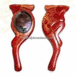 Cermin Tangkai Batik Kelinci M 15x12 cm ZNL (3)