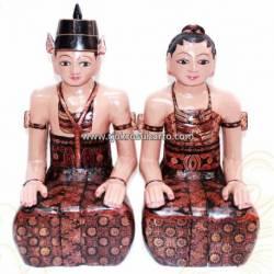 LBP 030 Loro Blonyo Basahan batik 57cm JMR