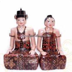 LBP 029 Loro Blonyo Basahan batik 90 cm JMR