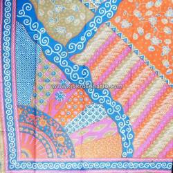 BHR 259 Bahan Sarimbit Printing warna Soft  Sinaran Biru 220x100cm  EST