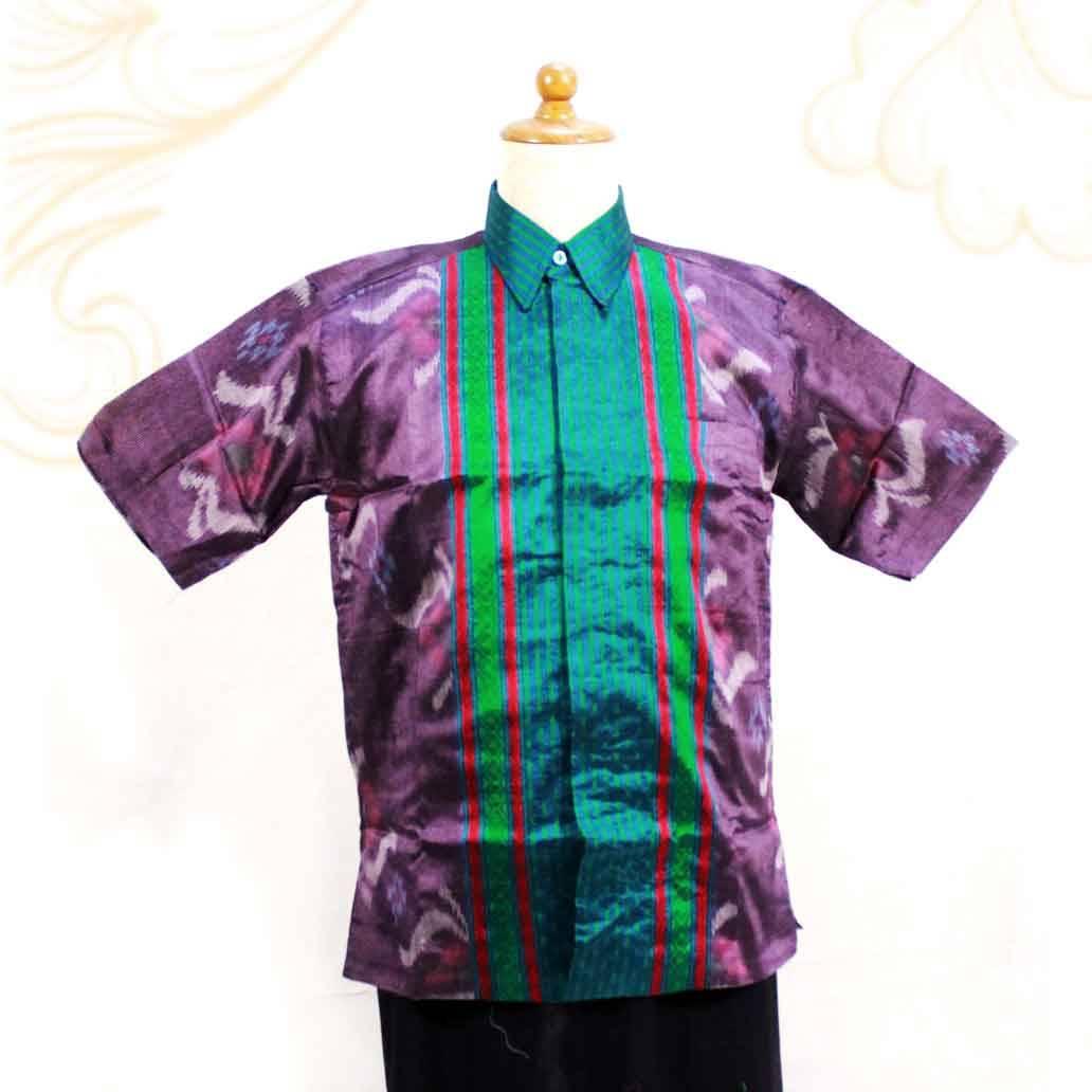 Kemeja Pendek Full Vooring Tenun Baron Jangkar Bht 125 Tenunbaron