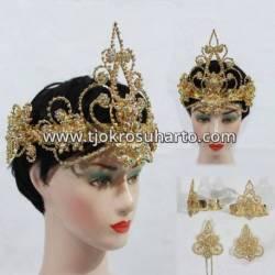 Set Perhiasan Siger Kembang mawar tretes lancip (3) BNG