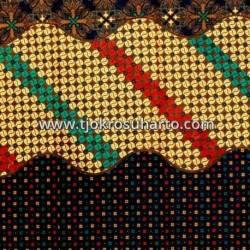 BHR 336 Bahan Sarimbit printing tiga negeri Colet Kawung  240x105 cm cm EST