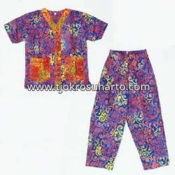 Piyama Anak santung batik warna S (4) ANS