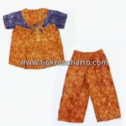 BPR 487 Baby doll pita santung stelan batik warna (3) ANS