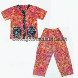 Piyama Anak santung batik warna M (4) ANS