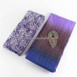 BHR 392 Paket Bahan Tenun Lurik 2,5 m Batik + Rok 2 m embosh gradasi (1)