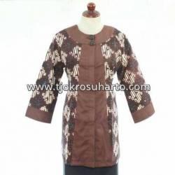 BPR 199 Blus Batik sogan kombinasi polos