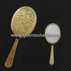 Cermin Oval tangkai kuningan 6 x 16 cm DRM