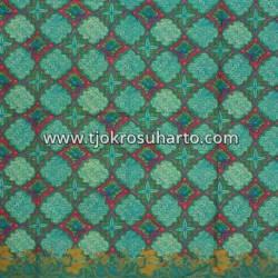 BHR 122 Bahan Sarimbit Printing warna Hijau Kupu HSN