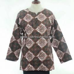 BPR 279 Blus Kantoran batik Purbonegoro sogan kancing 2 CLE