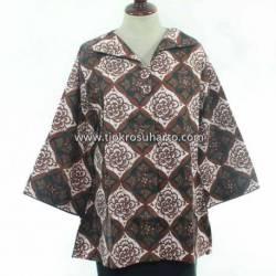 BPR 283 Blus Kantoran batik Purbonegoro sogan krah kancing 2 CLE