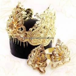 FSM 007 Set Perhiasan Tretes batu smili emas Nogo 28x16x12 cm TRS