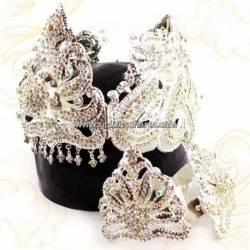 Set Perhiasan Tretes batu smili perak Nogo 28x16x12 cm TRS