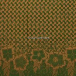 BHR 414 Bahan Sarimbit katun sanforest printing sogan warna 225x100 cm EST