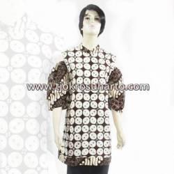 BPR 768 Dres krah bulat batik cap sogan  BTN