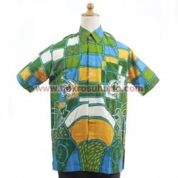 BPH 1196 Hem batik abstrak sederhana L CLE
