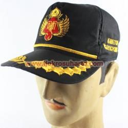 BTP 021 Topi Pet Bordir HB Hitam TNI