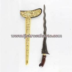 CSN 094 Keris Gayaman Yogya Sonokeling nogokikik tempel Slorok buntu emas batu
