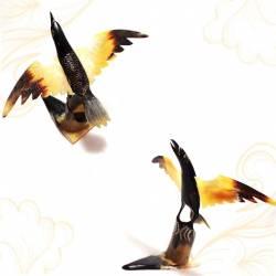 KTR 212 Hiasan tanduk kerbau Burung Hitam 4x25cm (21) IHD