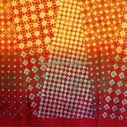 BHH 367 Bahan Hem Katun embosh kombinasi warna degradasi 180x100 cm CLE