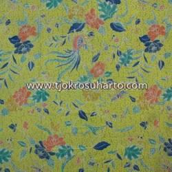 BHH 663 Bahan hem/rok batik tanahan printing kuning CLE