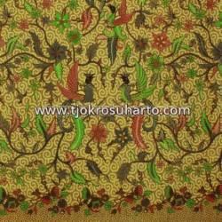 BHH 698 Bahan hem/rok batik  Sogan printing colet boket manggaran HSN
