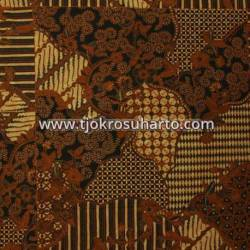 BHH 143 Bahan Hem Pola batik Kombinasi tulis sogan EST