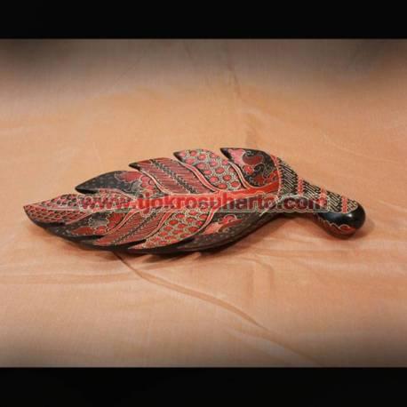LBA 036 Piring daun Batik XL ZNL