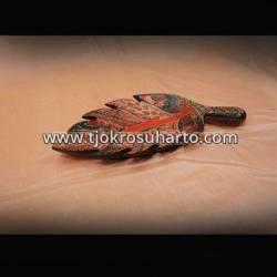 LBA 040 Piring daun Batik M ZNL
