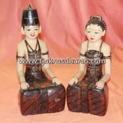 LCP 011 Loro Blonyo Basahan 40 cm Batik Kuluk