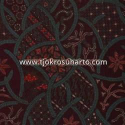 BHH 187 Bahan Hem/Rok Katun kombinasi tulis print malam Sk HMA