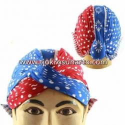 DBC 1165 Blangkon Yogya Cap Dele wutah Biru kombinasi Dele wutah Merah dhc 207+dhc 206