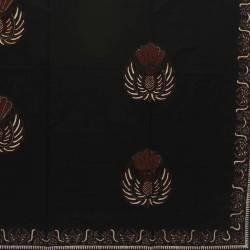 BCP 508 Batik Yogya Cap  Petilan Kelengan Hitam plisir kembang gurdo BTN