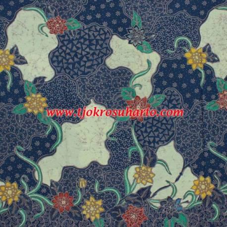 BHH 720 Bahan Hem/Rok tulis Colet Remukan biru  200x115 cm CLE